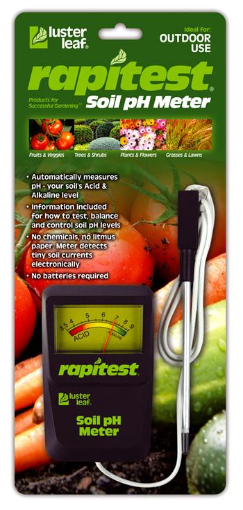 Medidor pH suelos luster leaf rapitest1840