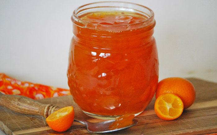 Kumquats confitadas en almíbar