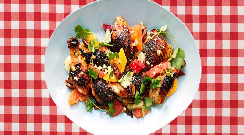 Pollo a la parrilla con ensalada de cítricos