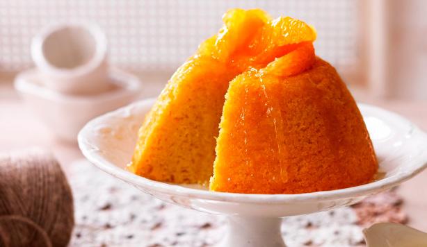 Cómo hacer pudin de naranja al vapor